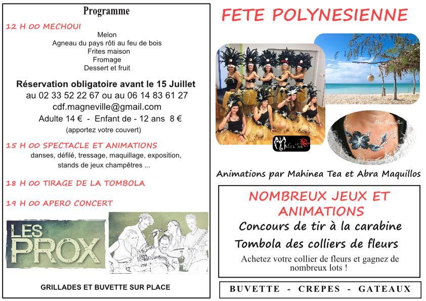 Fête polynésienne à Magneville