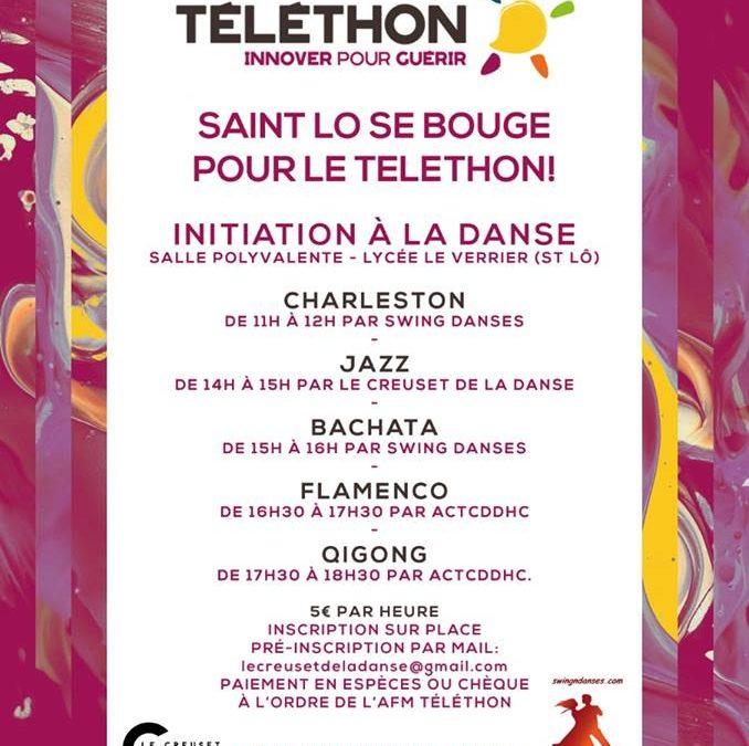 Initiations de danses pour le Téléthon à Saint Lô