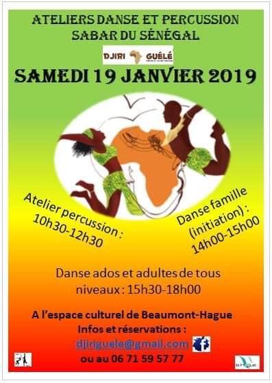 Atelier danse africaine et percussion