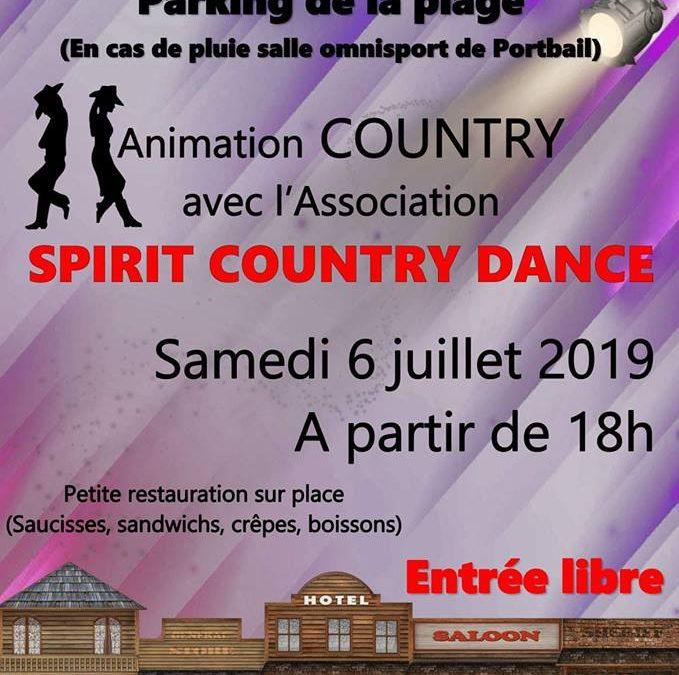 Animation country à Portbail sur Mer