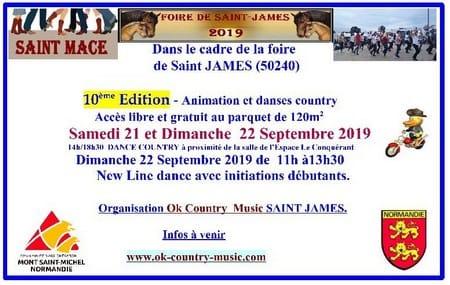 Animations danse country à Saint James