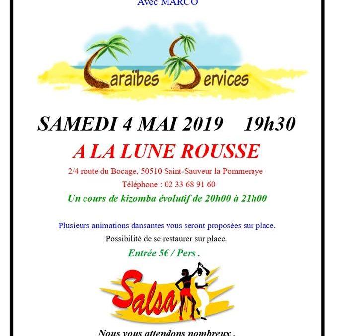 Soirée latino, afro-antillais, rock, variétés à Saint Sauveur la Pommeraye
