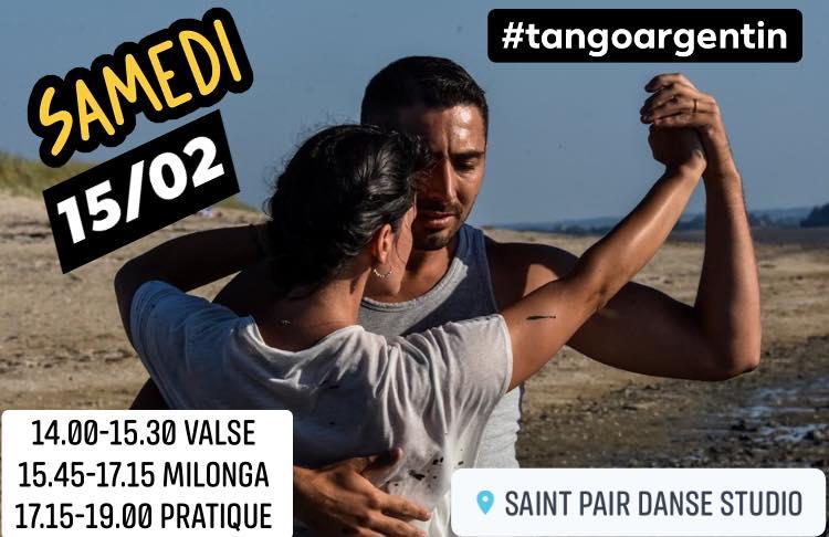 Stage de tango argentin et pratique à Saint-Pair-sur-Mer