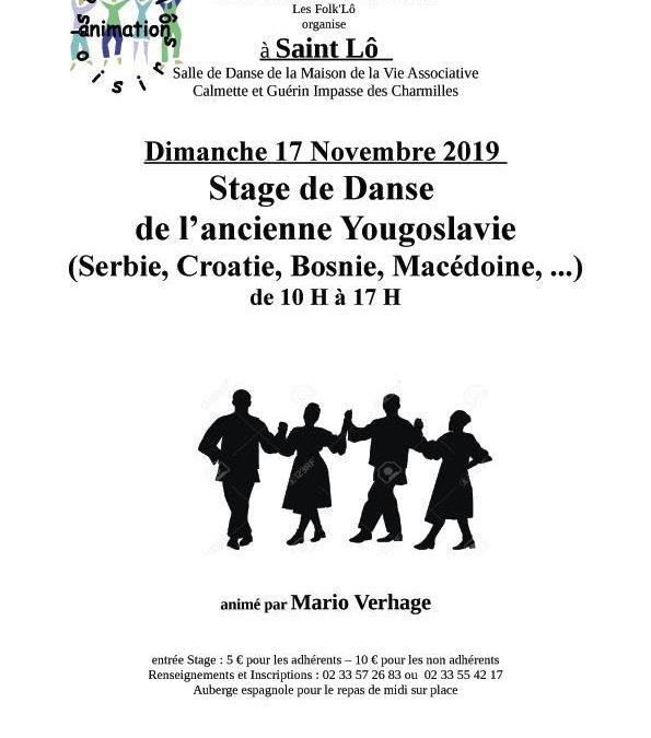 Stage de danse de l'ancienne Yougoslavie à Saint Lô