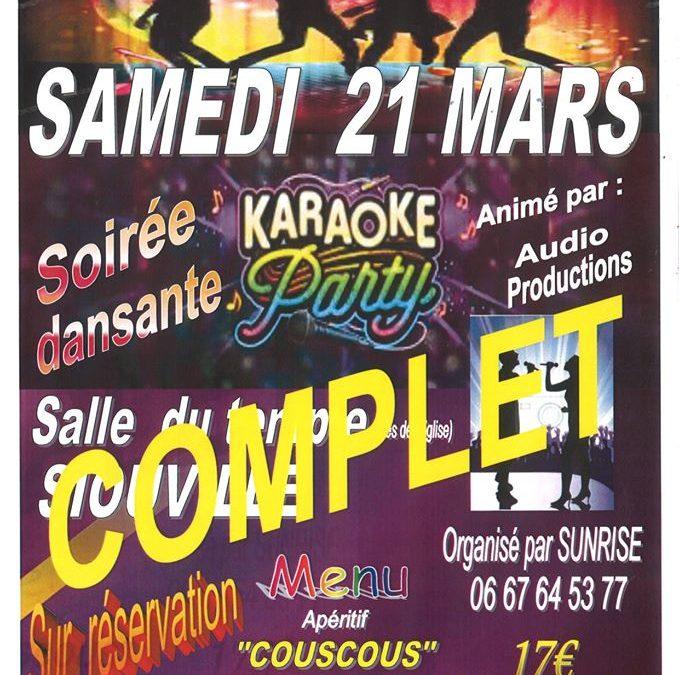 Repas dansant – karaoké à Siouville-Hague «COMPLET»